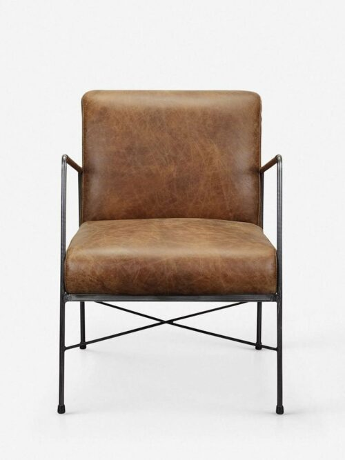Ivie Leather Accent Chair