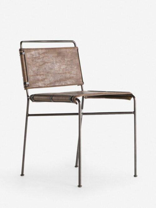 Trysta Dining Chair, Distressed Brown