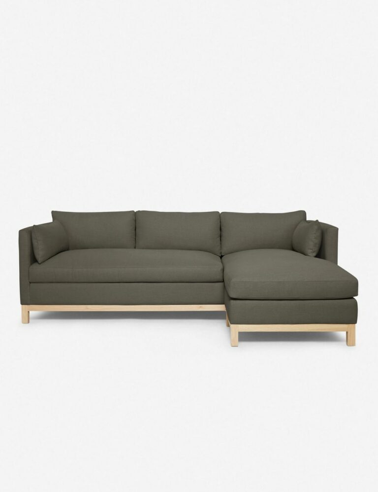 Hollingworth Sectional Sofa, Loden / 96″ x 37″ x 33″ / Right-Facing