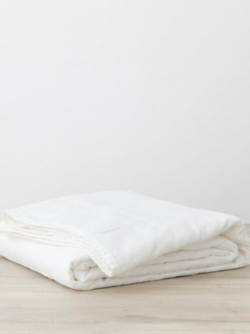 Quilted Bedcover - White